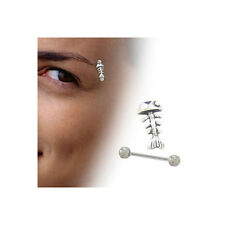 Sterling Silver Fish Eyebrow Shield with Barbell (8mm) - EBH-08