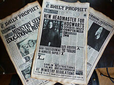 Harry Potter Three aged pages from the Daily Prophet