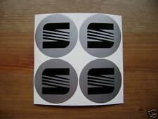4x 55 mm fits seat wheel STICKERS center badge centre trim cap hub alloy bk