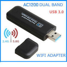 Mini 1200Mbps USB Wireless WiFi LAN Network Receiver Card Adapter For Desktop PC