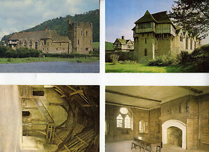 Lot of 4 Postcards Stokesay Castle Stokesay, Shropshire, England NOS