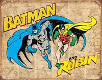 Batman & Robin Retro Tin Metal Sign 16 x 13in