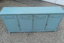 SHABBY CHIC PAINTED 6FT  SIDEBOARD IN BLUE GRASS FIRED EARTH