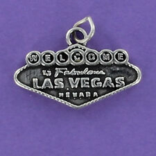 Las Vegas Welcome Sign Charm Sterling Silver 925 for Bracelet Gambling Casinos