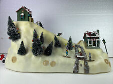 Mr Christmas Winter Ski Hill Works Illuminated Plays Carols Electric Holiday