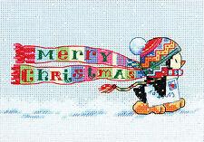 Cross Stitch Kit ~ Dimensions Merry Christmas Penguin #70-08950
