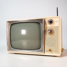 "Vintage Zenith B&W Black White 1980s TV Television  12""  Works CRT Retro Gaming"
