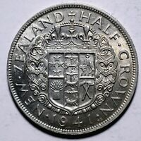 1941 New Zealand Half 1/2 Crown - George V - Lot 448
