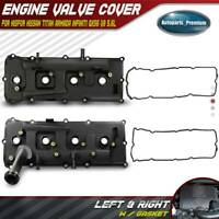 2x Engine Valve Cover w/ Gasket for Nissan Armada Pathfinder Titan Left & Right