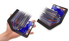 Ausweis-Rabatt-Kredit-Visiten-Kartenetui-Geldbörse-Wallet RFID-Schutz 36 Karten+