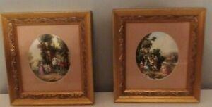 Pair of Old World Inspired prints in Gold Frames. Robert Spooner Gallerie.