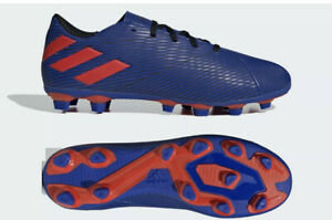 NEW* Adidas Nemeziz Messi 19.4 FxG Soccer Cleats FW8402 Royal Blue/Red Size 11.5