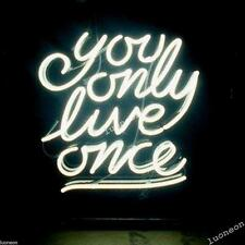 New You Only Love Live Once YOLO Hand-made Beer Bar Neon Light Sign FAST SHIP