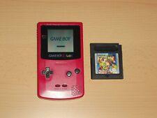 Nintendo Gameboy Color +  Spiel Gb Gbc Konsole Rot - Rosa