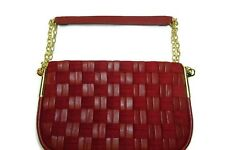 Antonio Melani Women's Woven Red Shoulder Bag Leather