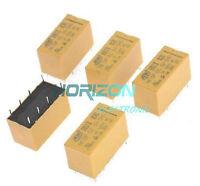10PCS DC 5V Coil DPDT 8 Pin 2NO 2NC Mini Power Relays PCB Type HK19F Good