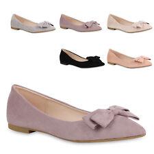 Klassische Damen Ballerinas Spitze Slippers Business Slip Ons 821067 Trendy Neu