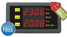 New DC 0-90V 0-30A Voltage Current Energy Power Watt Meter HHO EV car Solar Wind
