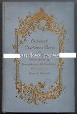 Elisabeth charlottens cartas de Hans F. Helmolt 1909 Anna montaña en Sajonia