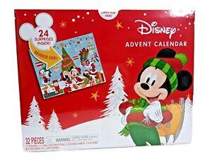 New Disney Advent Calendar w/ 24 Surprises Inside! Mickey, Minnie, Donald, Goofy