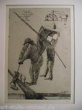 """Norddeutsche Künstler: Pit Morell: """"Don Quichote"""" Auflage 83/180, Radierung"""