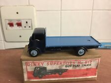 Dinky 512 Guy Flat Bed Truck  Bark Blue / Light Blue Body Great Condirion Boxed
