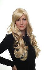 Perruque blond clair mince Mèches Boucles bouclée 60 cm 285-611