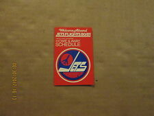 NHL Winnipeg Jets Vintage Circa 1980-81 Molson Brewery Hockey Pocket Schedule