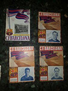 13 F.C. Barecelona year 1952 football soccer programmes programs original barça