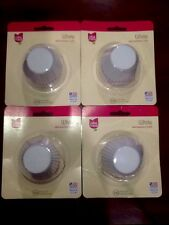 400 MINI CUPCAKE LINERS Baking Cups CAKE MATE White(4 packs of 100) NEW USA MADE
