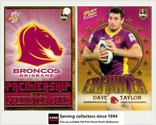 2007 Select NRL Invincible Enforcer + Predictor: E1 Dave Taylor (Brisbane)