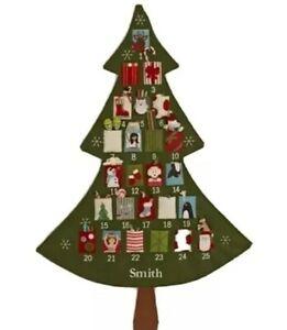 Pottery Barn Kids TELLURIDE Christmas Tree Advent Calendar New * No name on it*