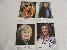 4 EASTENDERS Signed Cast Cards Photos Autograph Wadia Power Moore Martin
