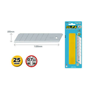 2 Pack OLFA HB-5B Blades 25mm Larger Thicker Extra Heavy-Duty Knives Replacement