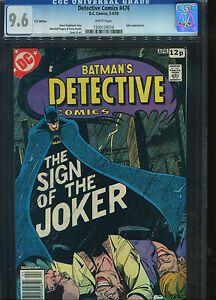 Detective Comics#476 CGC 9.6 Type 1A U.S Published U.K Pence cover price Variant