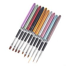 10 Pcs Nail Art Brush Crystal UV Gel Painting Dotting Manicure Tools Set 1026