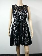 NEW to AUS - Betsy & Adam - Size 4 - Sleeveless Belted Lace Dress - Black - $179