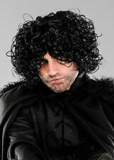 Mens Curly Black John Snow Style Wig