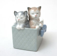 Nao by Lladro Porcelain Figurine, Purr-fect Gift Kittens In Box #1080