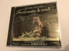 TOUS LES MATINS DU MONDE (Savall, etc) OOP 1991 Soundtrack Score OST CD SEALED