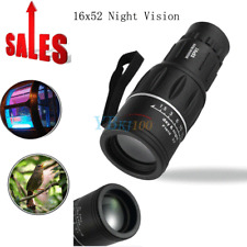 16x52 HD Optical Monocular Scope Day Night Hunting Camping Hiking Telescope New