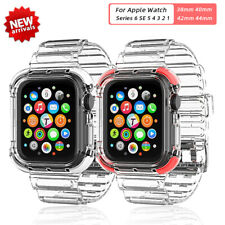 Transparent Silicone Band for Apple Watch Series 6/5/4/3/2/1/SE 38/40/42/44mm