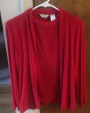 Laura Ashley Petite Top w/ Jacket Set Red PS  NWT