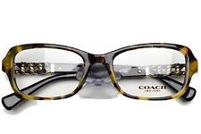 COACH 6075Q 5324 New Authentic Eyeglasses Frame 50-18-135 Dark Tortoise Black