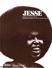 Roberta Flack-Jesse-1973 Sheet Music-Original Australian issue-Janis Ian-Rare!