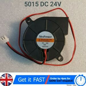 Ultra-silent Radial Turbo Blower Fan Cooling Fan DC 24V for Printer Parts