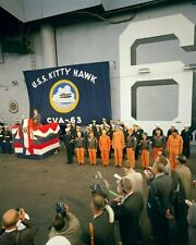 President John F. Kennedy gives speech aboard USS Kitty Hawk New 8x10 Photo