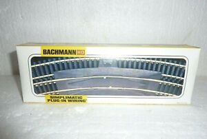 14 Pcs Bachmann HO Gauge Steel Train Track Set 44-2779 Simplimatic Plug-In S-54