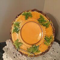 Majolica Plate Vine And Leaf British Art Nouveau W & L