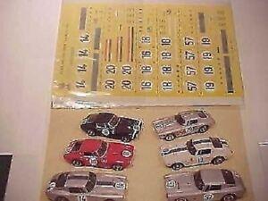 1/43 DECALS 6 VERSION 24H LE MANS CAR  FERRARI 250 SWB LE MANS 1961 FULL DECAL